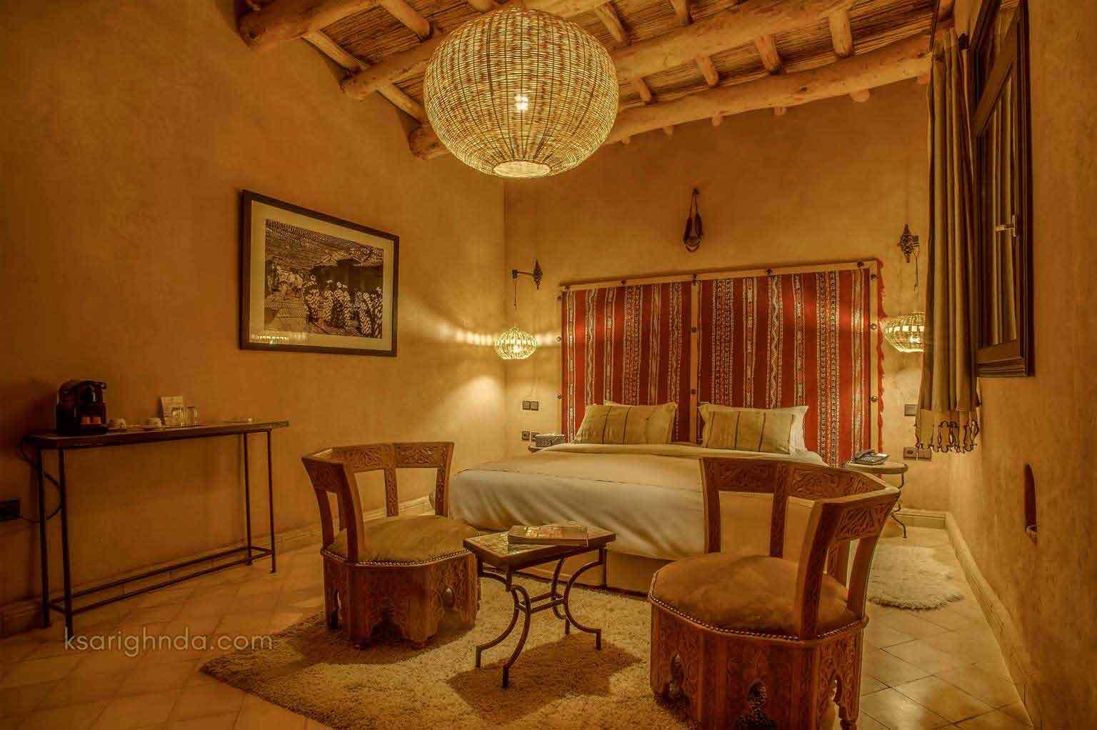 Chambre confortable Hôtel ksar Ighnda