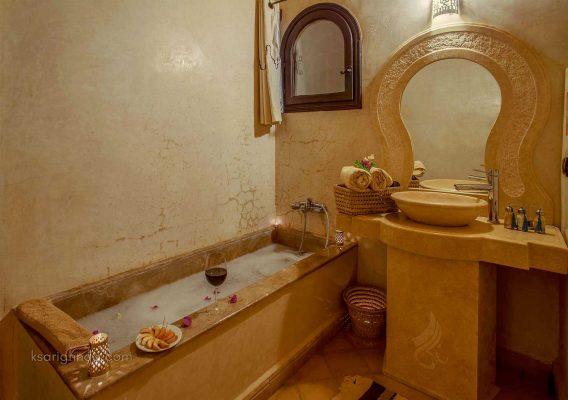 Salle de bain Hôtel ksar Ighnda