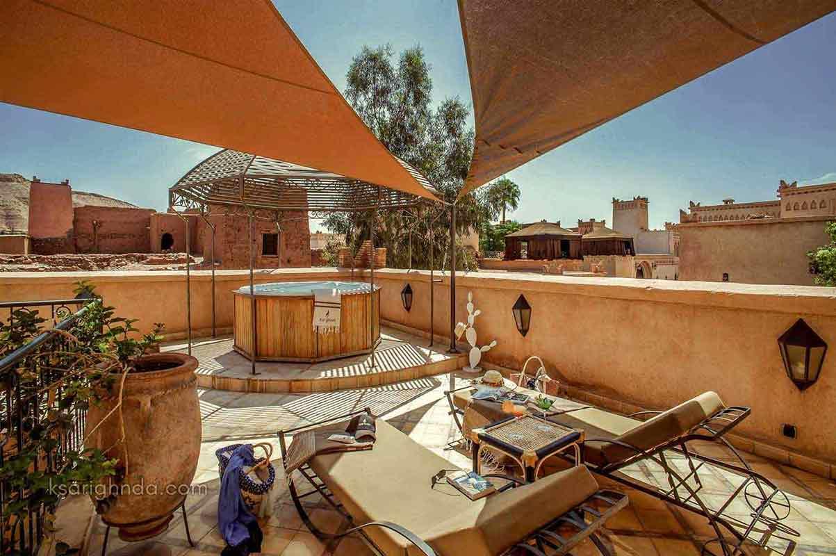 Terrasse Hôtel ksar Ighnda