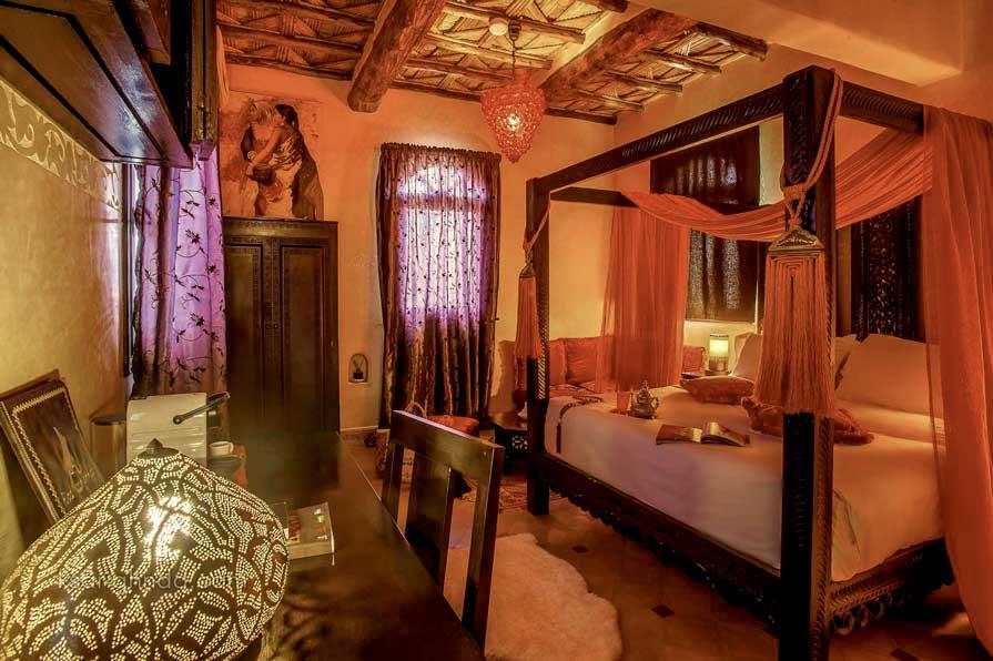 Intérieur chambre Hôtel ksar Ighnda