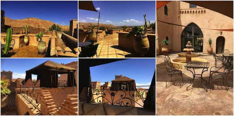 Terrasse de l'hôtel ksar ighnda Ouarzazate