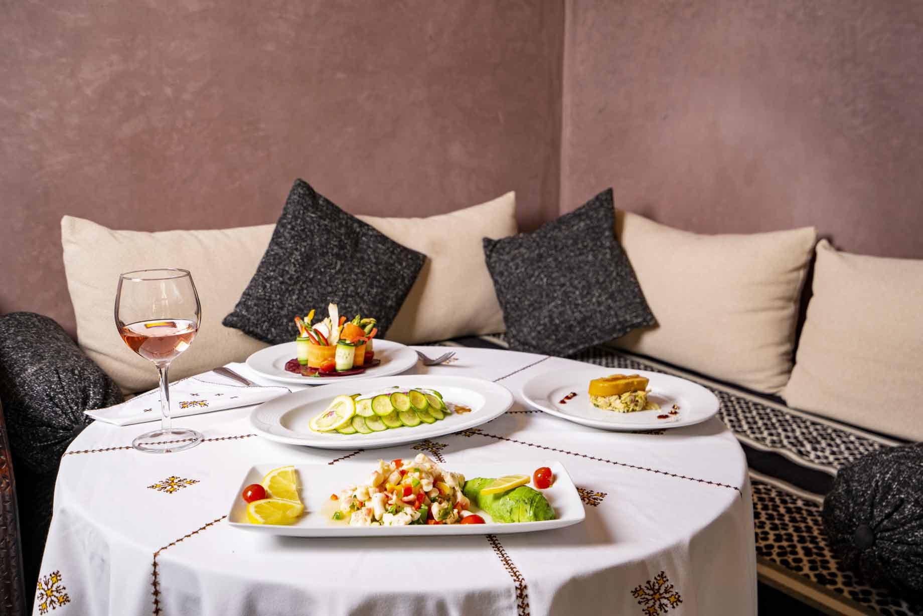 Restaurant de l'hôtel Ksar Ighnda