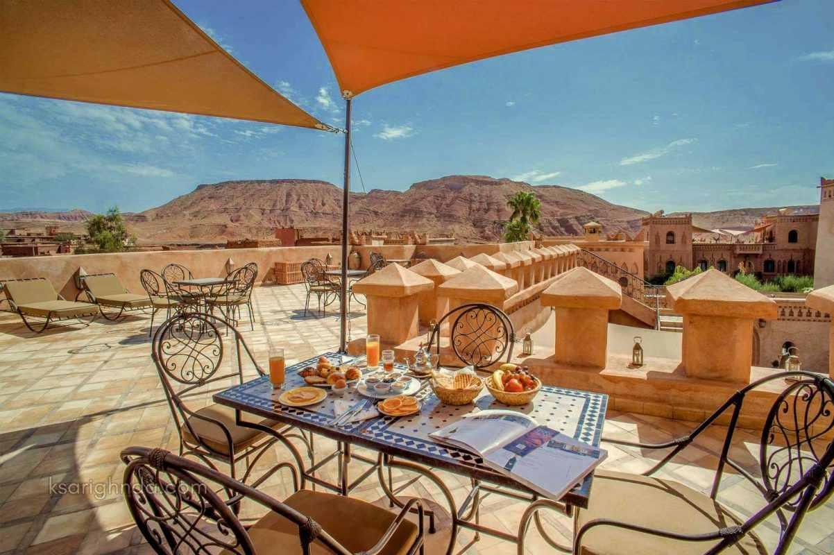 terrasse hotel ksar ighnda ouarzazate