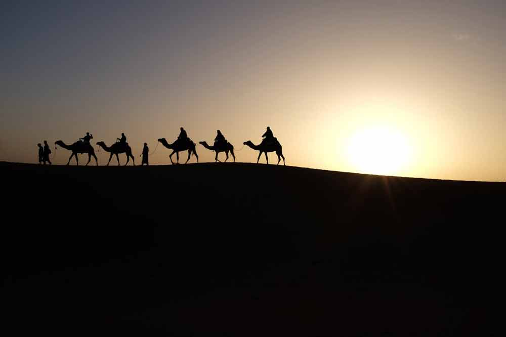 Couchez de soleil Sahara
