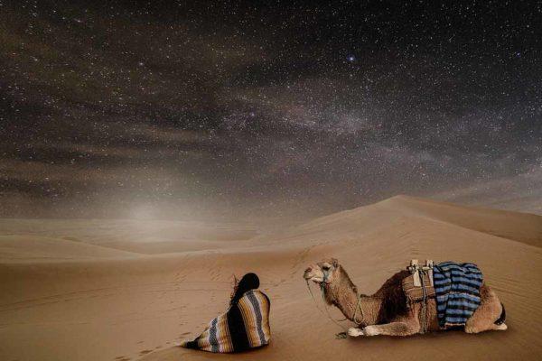 une nuit dans le désert de Sahara